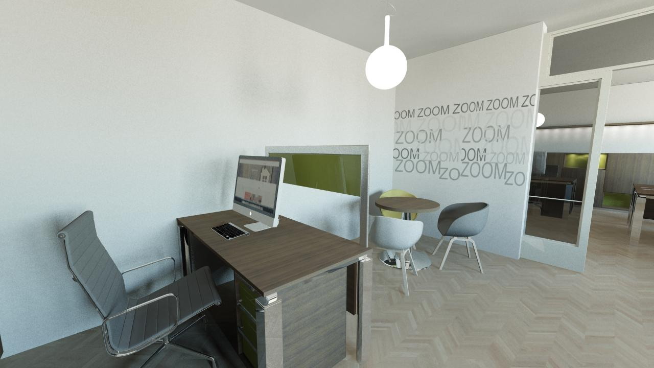 Kancelář Smíchov - pracovní stůl