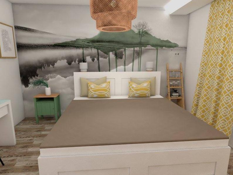 Spálňa - Návrh bytu v prírodnom štýle