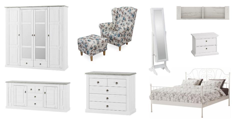 Biely nábytok do spálne