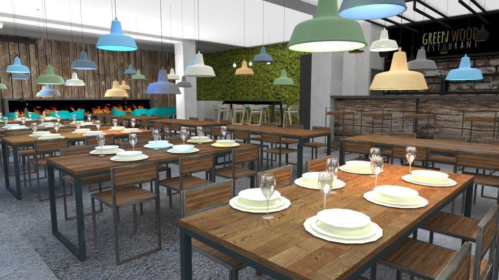 Interiér - Reštaurácia a kaviareň v prírodnom štýle