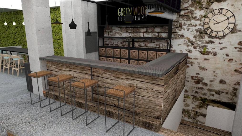 Bar - Reštaurácia a kaviareň v prírodnom štýle