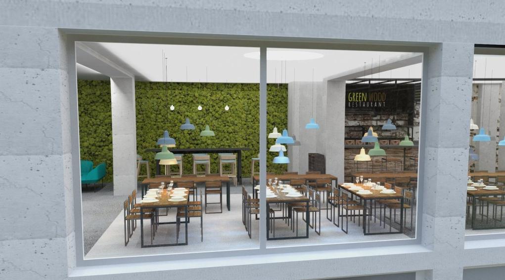 Pohľad z vonku - Reštaurácia a kaviareň v prírodnom štýle