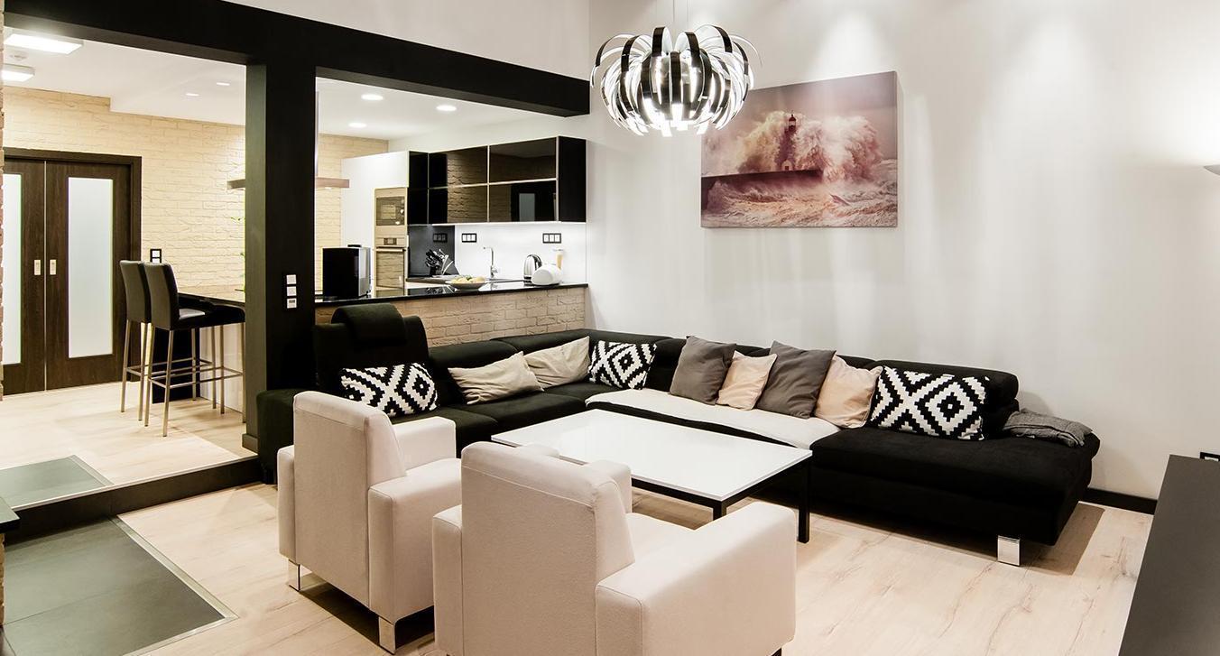 Obývací pokoj - Interiér rodinného domu, Praha - Západ
