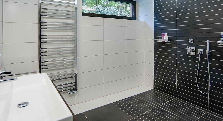 Sprchový kout - Interiér rodinného domu, Praha - Západ