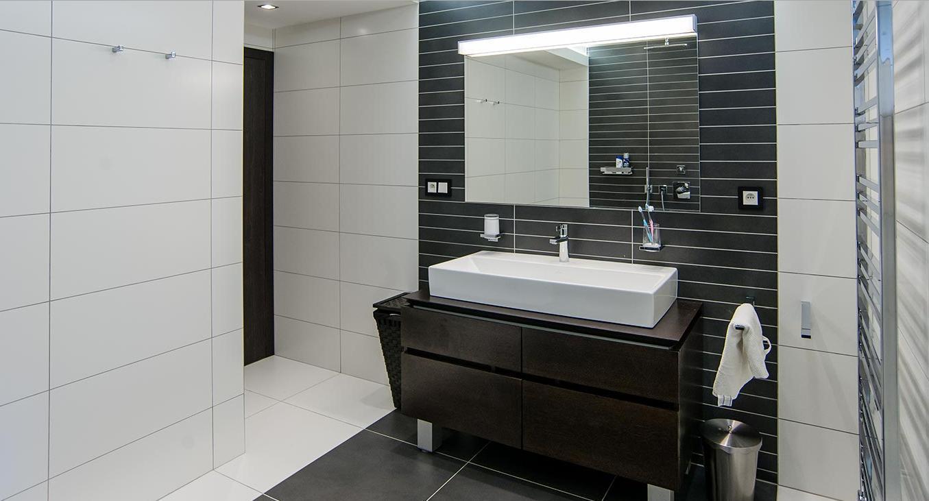 Koupelna - Interiér rodinného domu, Praha - Západ