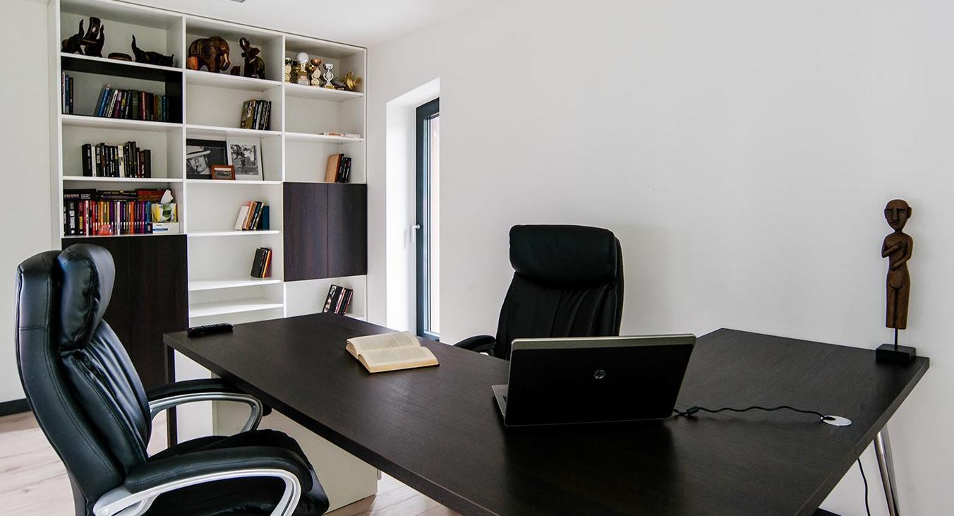 Pracovna - Interiér rodinného domu, Praha - Západ