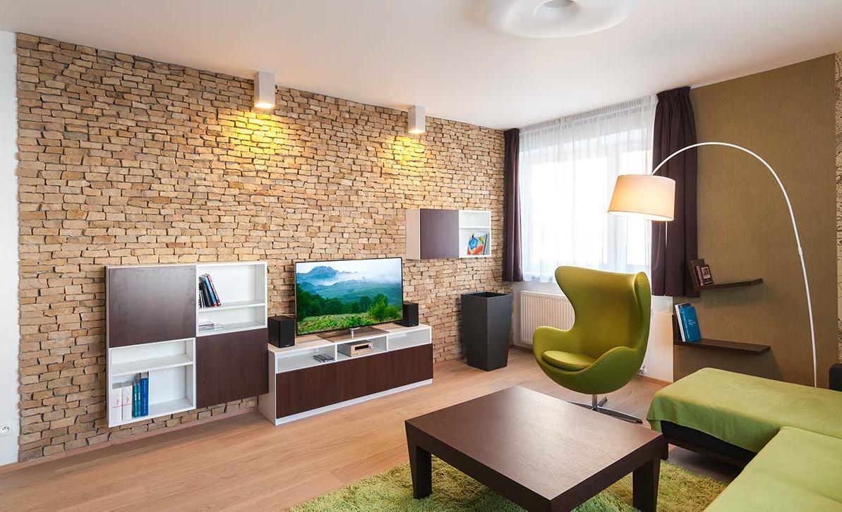 Obývací pokoj - Byt Stotůlky