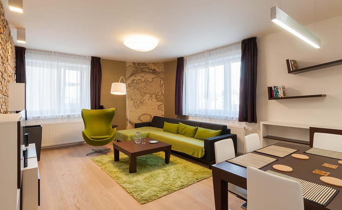Obývací pokoj - Byt, Stotůlky