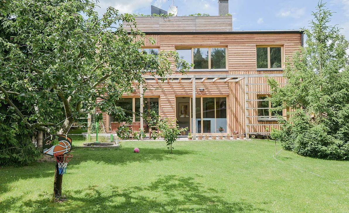 Drevená fasáda rodinného domu