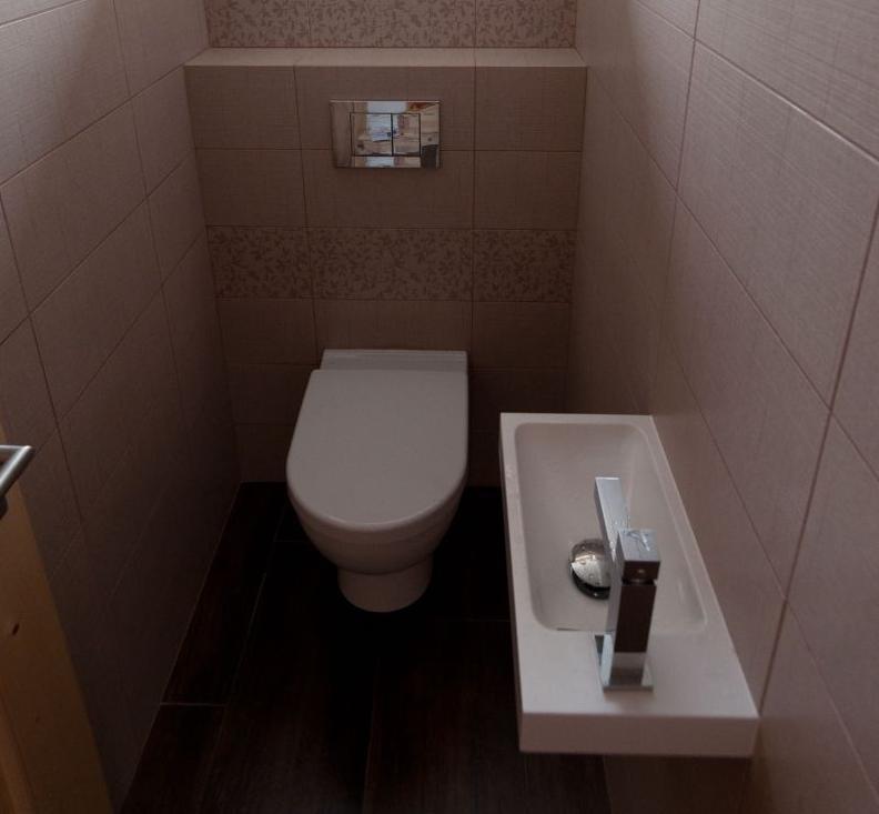 Toaleta s umývadlom