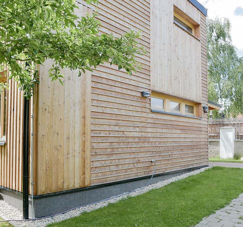 Drevená fasáda na rodinnom dome