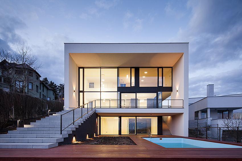 Minimalistická stavba - Vila s výhledem