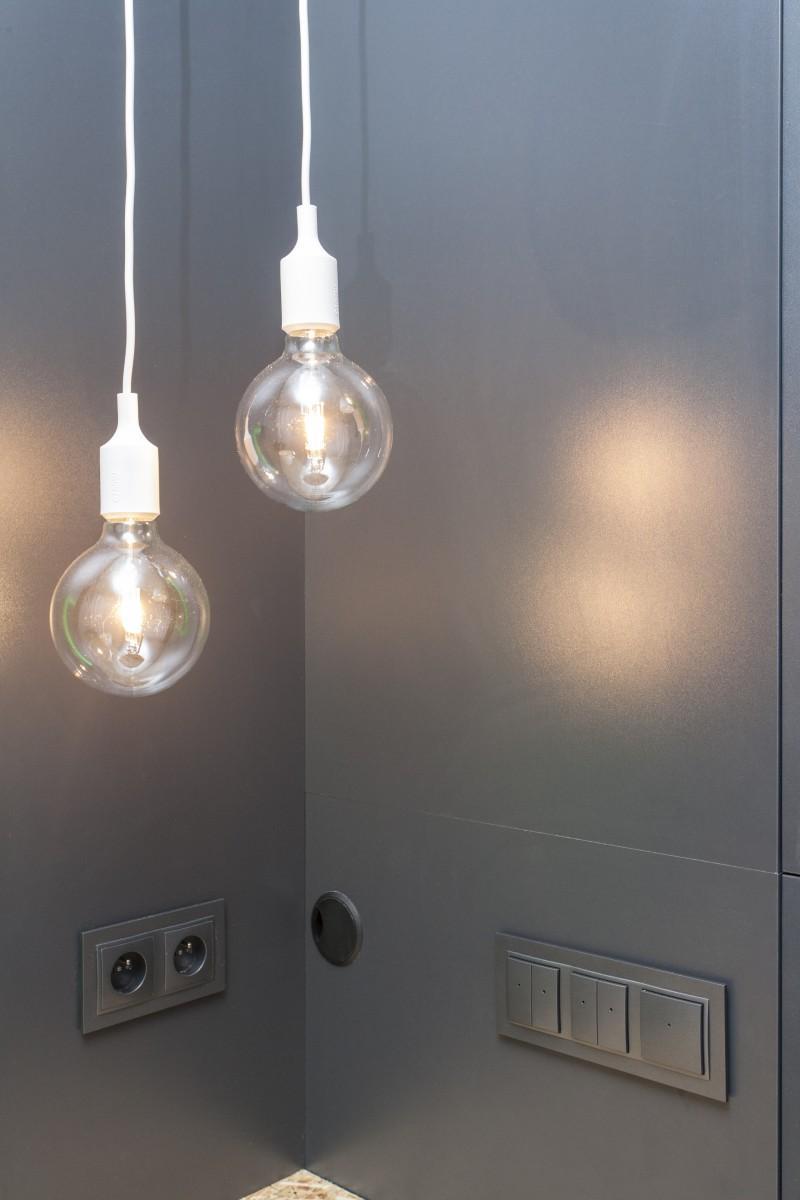 Detail na designové svietidlo