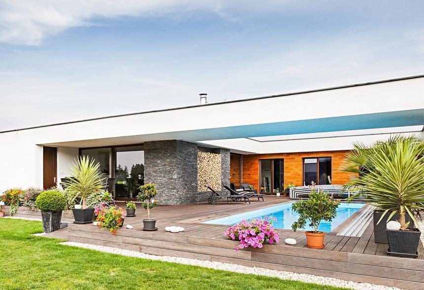 Dům s atriem - bazén