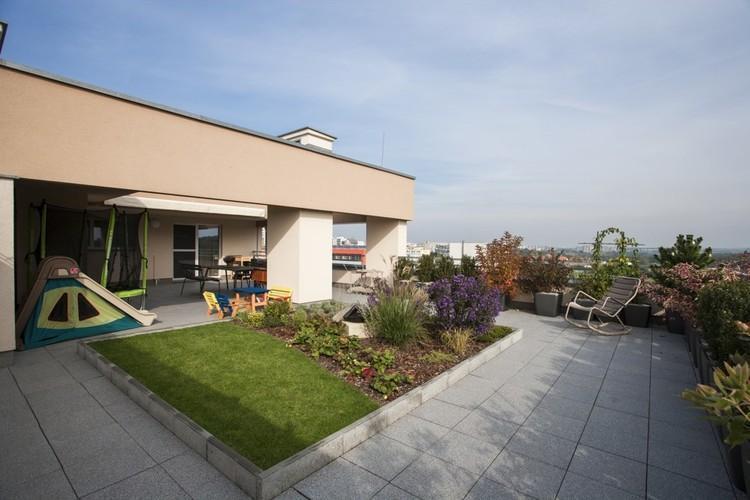 Záhrada na terase bytu