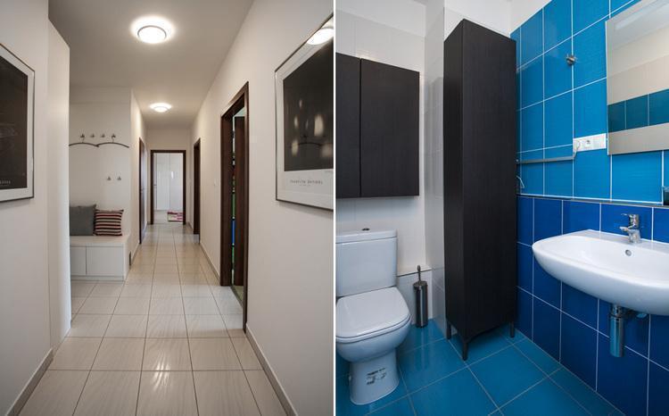 Kúpeľňa a chodba