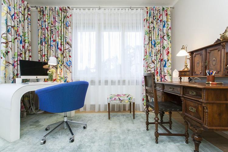 Domáca pracovňa s prvkami vintage a moderného štýlu