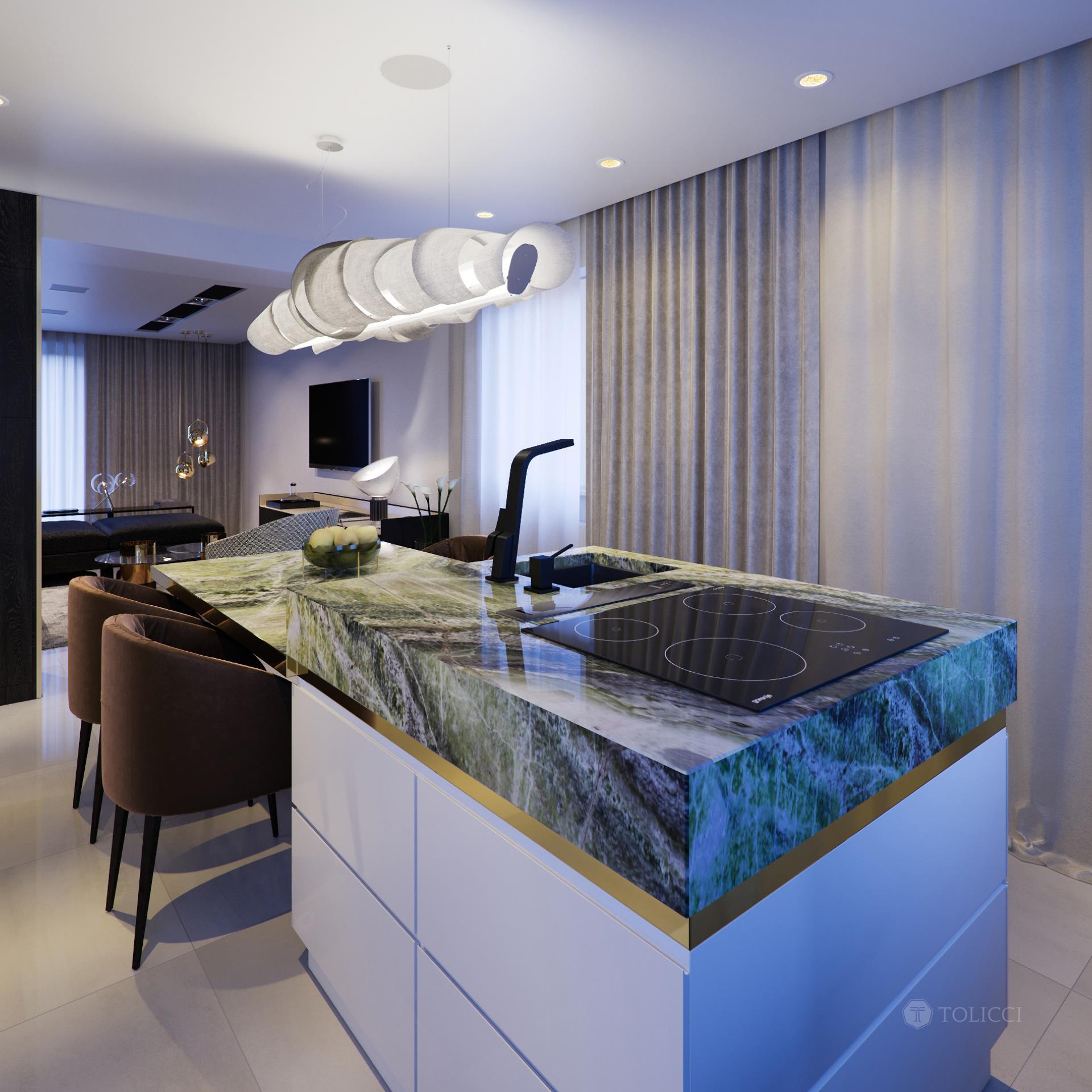 Luxusný kuchynský ostrov