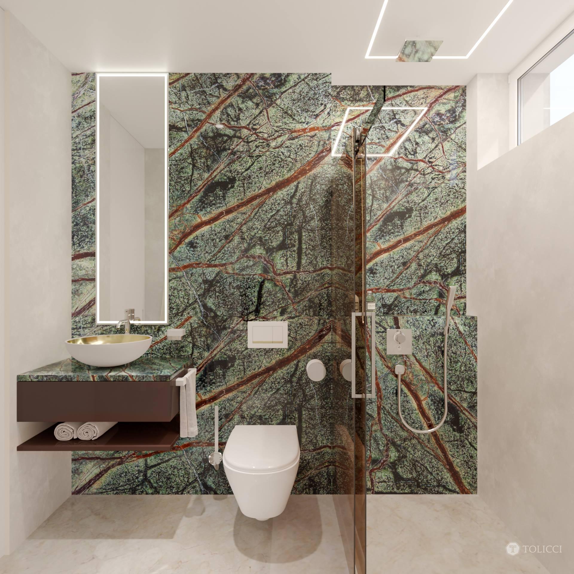 Kúpeľňa s kameňom