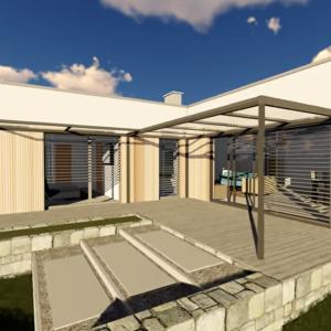 Projekt moderného rodinného domu