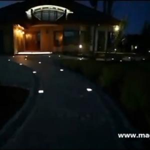 Svietiaca LED zámková dlažba - inšpirácia