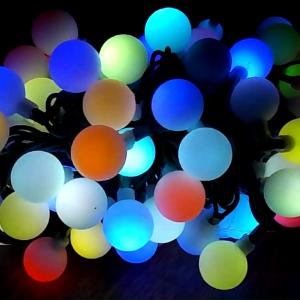 LED guličky na stromček 100ks / 10m RGB