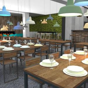 Reštaurácia a kaviareň v prírodnom štýle