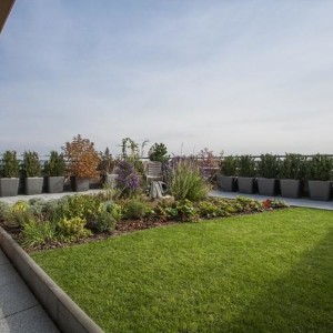 Byt so záhradou na terase