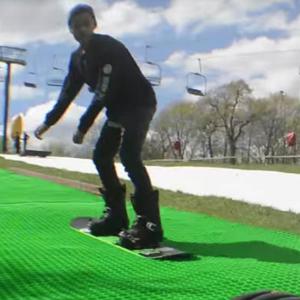 Buck Hill Artificial Snow Snowboard Testing