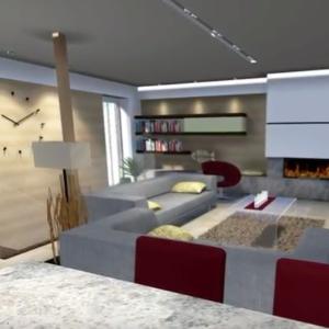 Moderný Interiér ladený v teplom tóne