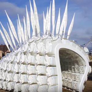 Mestský pavilón na chov hmyzu pre ľudí