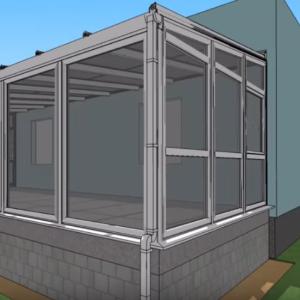 Výstavba zimnej záhrady - animácia
