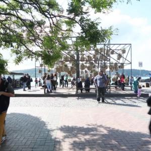 Sky Garden je záhrada na námestí Ortaköy