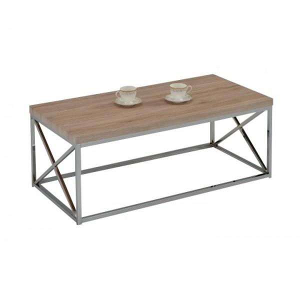 Konferenčný stolík, dub sonoma/chróm, COLMAN