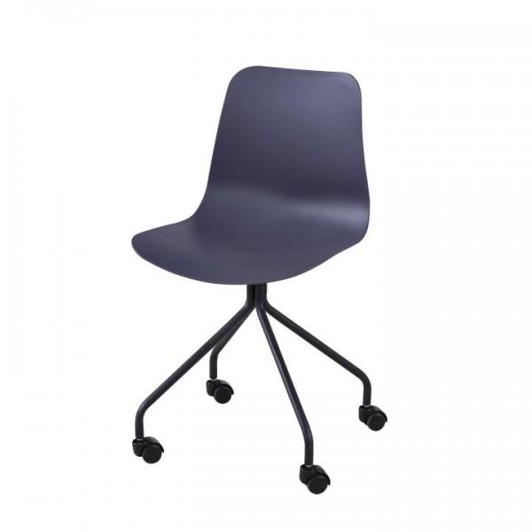 TEMPO KONDELA Kancelárska stolička, tmavosivá, DANELA