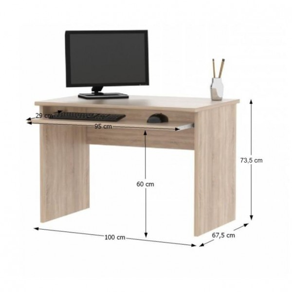 Písací stôl, dub sonoma, JOHAN NEW 02