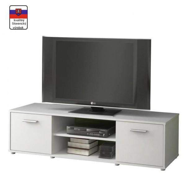 TEMPO KONDELA TV stolík, biela, ZUNO NEW 01