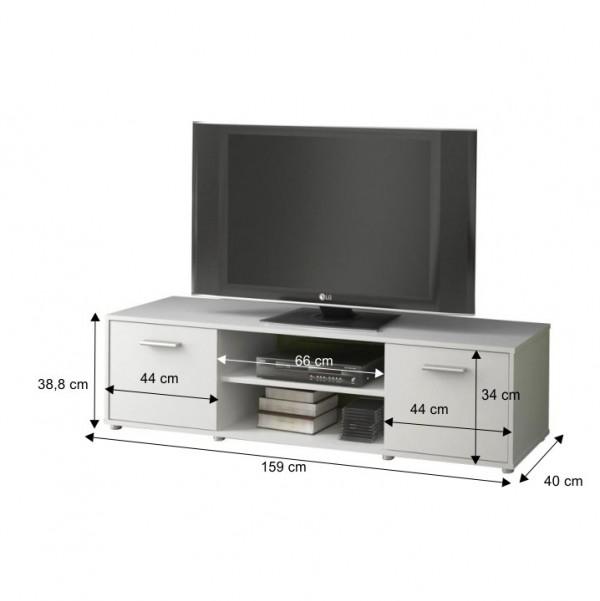 TV stolík, biela, ZUNO NEW 01