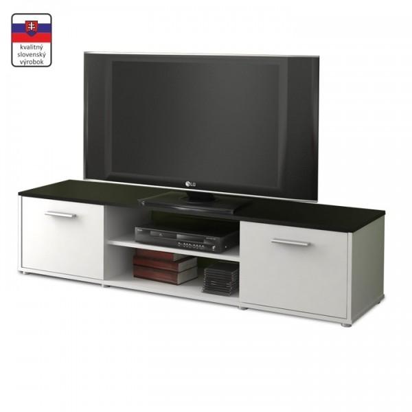 TEMPO KONDELA TV stolík, biela/čierna, ZUNO NEW 01