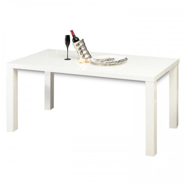 TEMPO KONDELA Jedálenský stôl, biela vysoký lesk HG, ASPER TYP 2