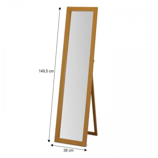 Zrkadlo, stojanové, dub, AIDA NEW 20685-S-K