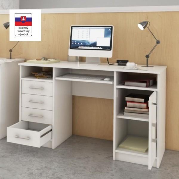 PC stôl, biela, B9 NEW