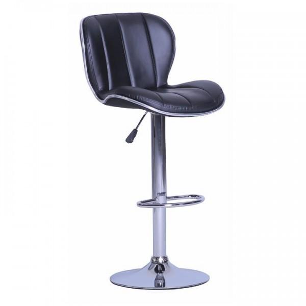 Barová stolička, čierna/chrómovaná, DUENA