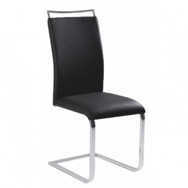 TEMPO KONDELA Jedálenská stolička,  čierna, BARNA NEW