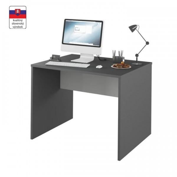 PC stôl, grafit/biela, RIOMA TYP 12