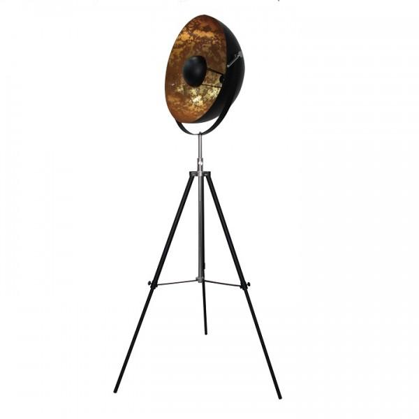 Stojacia lampa, čierna/zlatá, JADE TYP 6 8008-18A