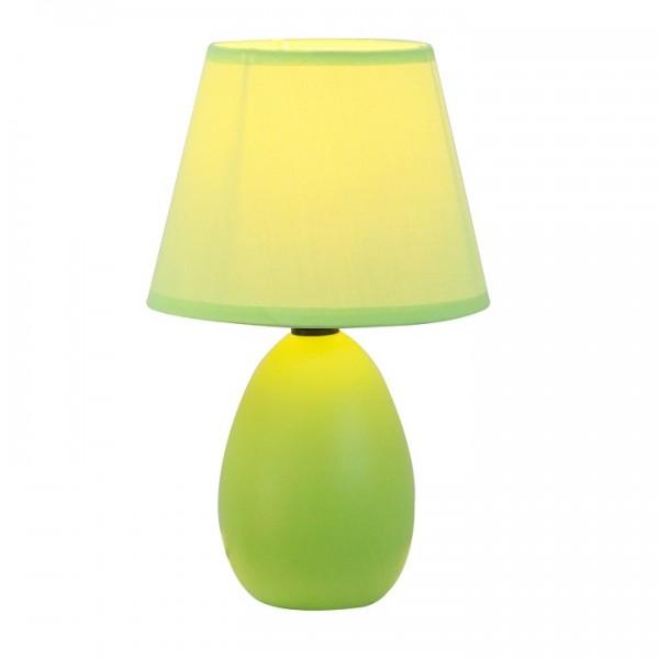 Keramická stolná lampa, zelená,  QENNY TYP 13 AT09350