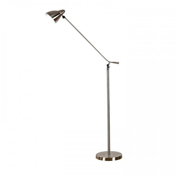 Stojacia lampa, železo/nikel, CINDA TYP 8 F1078