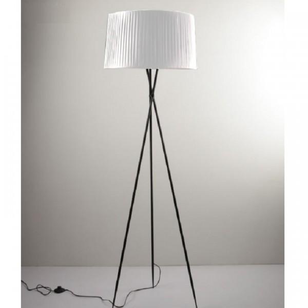 Stojacia lampa, kov/biele tienidlo, CINDA Typ 10 YF10W