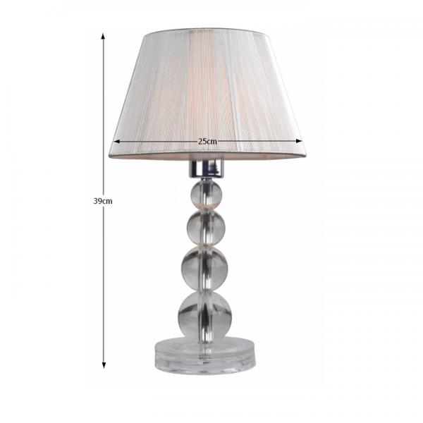 Stolná lampa, strieborná, CINDA Typ 14 ME SM PEQ